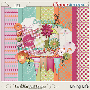 Living Life Digital Scrapbook Kit By Dandelion Dust Designs
