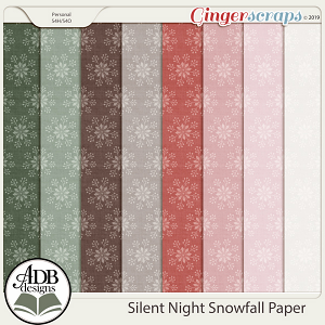 Silent Night Snowfall Papers by ADB Designs