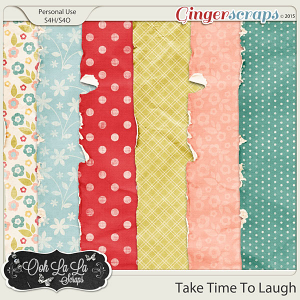 Take Time To Laugh Worn and Torn Papers