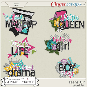 Teens: Girl - Word Art Pack by Connie Prince