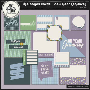 Life Pages Cards - New Year (Square) by JB Studio