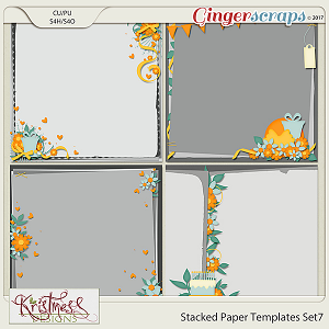 Stacked Paper Templates Set 7