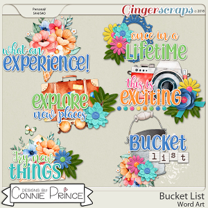 Bucket List - WordArt Pack by Connie Prince