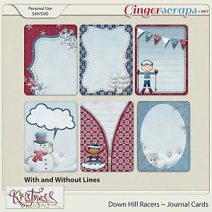 Down Hill Racers Journal Cards
