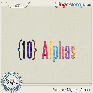 Summer Nights - Alphas by CathyK Designs