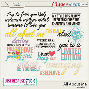 All About Me Word Arts by JB Studio
