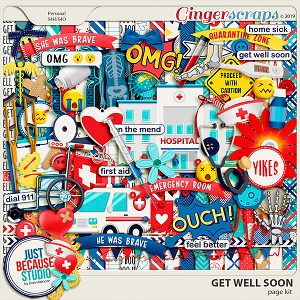 Get Well Soon Page Kit by JB Studio