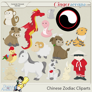 Doodles By Americo: Chinese Zodiac Cliparts