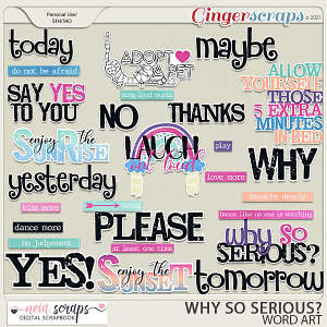 Why so Serious? - Word Art - by Neia Scraps
