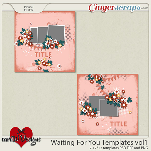 Waiting For You Templates vol1 by CarolW Designs