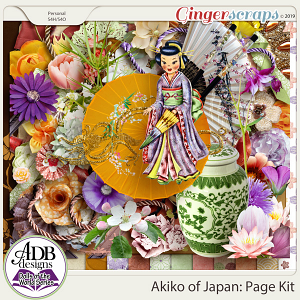Akiko Page Kit {DOTW - Japan} by ADB Designs