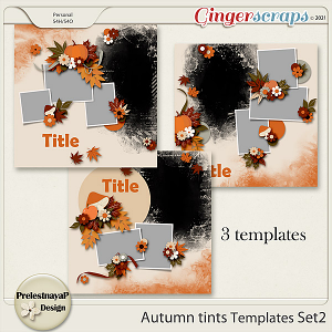Autumn tints Templates Set2