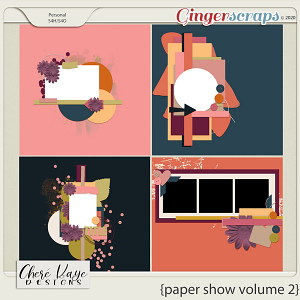 Paper Show Volume 2 12x12 Templates by Chere Kaye Designs