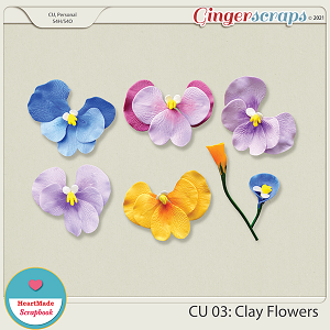 CU 03 - Clay flowers