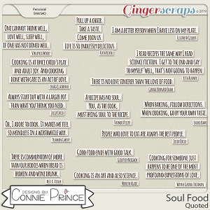 Soul Food - Quoted by Connie Prince