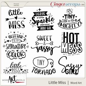 Little Miss Word Art