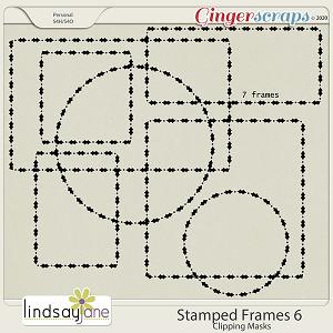 Stamped Frames 6 by Lindsay Jane