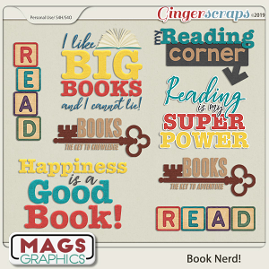 Book Nerd WORD ART by MagsGraphics