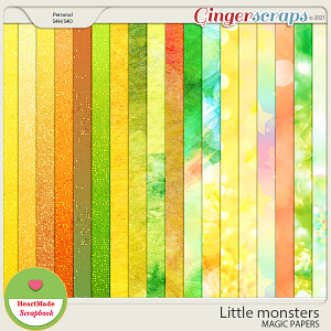 Little monsters - magic papers