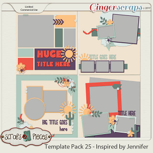 Template Pack 25 - Inspired by Jennifer