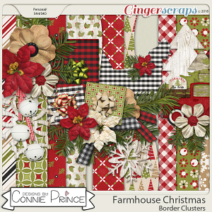 Farmhouse Christmas - Borders by Connie Prince
