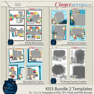 KISS Bundle 2 Templates by Miss Fish