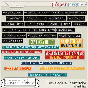 Travelogue Kentucky - Word Bits by Connie Prince