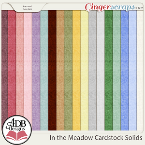 In the Meadow Solid Cardstock by ADB Designs