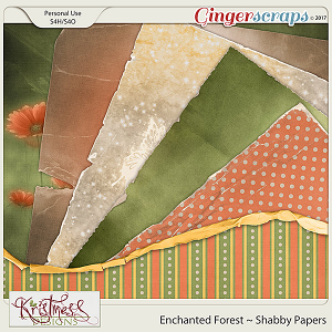 Enchanted Forest Shabby Papers