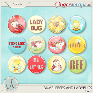 Bumblebees And Ladybugs Flairs by Ilonka's Designs