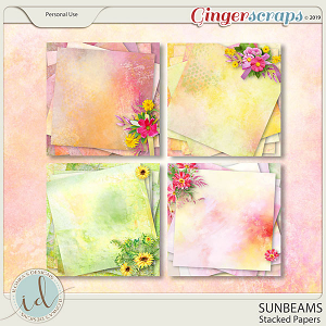 Sunbeams Stacked Papers by Ilonka's Designs