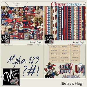 Betsy's Flag by Memory Mosaic