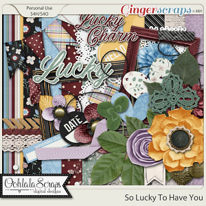 So Lucky To Have You Digital Scapbook Kit