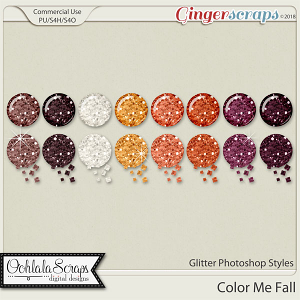 Color Me Fall Glitter CU Photoshop Styles