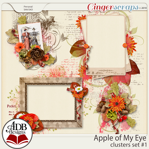 Apple of My Eye Clusters Set #01 by ADB Designs