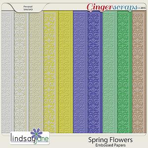 Spring Flowers Embossed Papers by Lindsay Jane