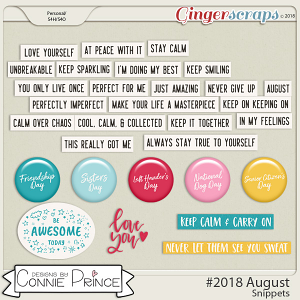 #2018 August - Snippets by Connie Prince