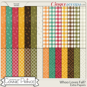 Whoo Loves Fall?  - Extra Papers by Connie Prince & Adrienne Skelton