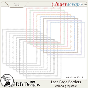 Heritage Resource - Lace Page Borders by ADB Designs