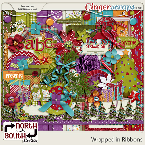 Wrapped in Ribbons {Collab Kit} by North Meets South