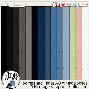 Some Hard Times AO Vintage Solids by ADB Designs