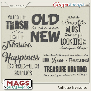Antique Treasures WORD ART by MagsGraphics