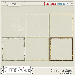 Christmas Story - Page Edges by Connie Prince
