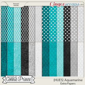 {HUES} Aquamarine - Extra Papers