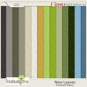 New Leaves Embossed Papers by Lindsay Jane