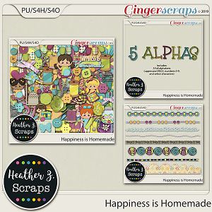 Happiness is Homemade BUNDLE by Heather Z Scraps