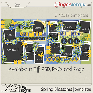 Spring Blossoms: Templates by LDragDesigns