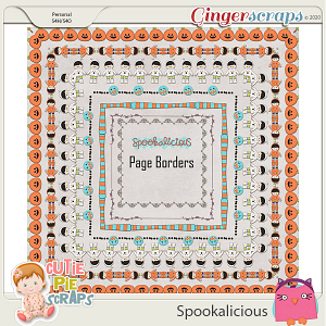 Spookalicious Matching Page -Borders