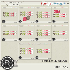 Little Lady CU Photoshop Styles Bundle
