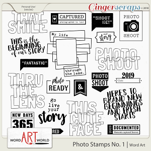 Photo Stamps No. 1 Word Art